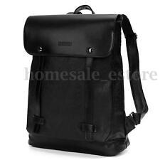 Vintage Men Women Leather Backpack Messenger Bag Satchel Laptop Travel Rucksack