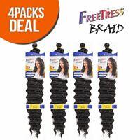 "FreeTress Synthetic Hair Braids Deep Twist Bulk 22"" 4-Pack"
