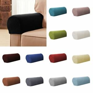 2X Sofa Couch Stretch Armrest Covers Chair Furniture Arm Protectors Slipcovers