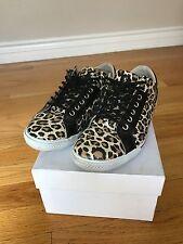 Auth Dolce & Gabbana Leopard Print Sneakers Vitello Stampa Leo Size 37.5/ 6.5/7