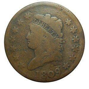 Large cent/penny 1809 attractive mid grade