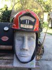 VINTAGE 1988 Bullard Fire Helmet Firedome Helmet Lieutenant Badge O.F.D