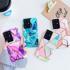 Geometric Marble Case For Samsung S20 Ultra A21S A71 A51 A41 A70 Silicone Cover