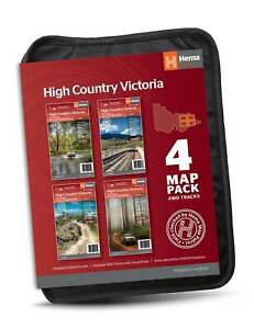 High Country Victoria Maps - 4 Map Pack with Wallet 100K Scale