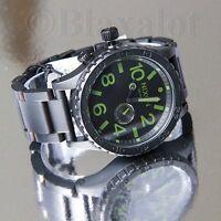 NIXON 51-30 5130 Tide Matte Black/Surplus SS Watch A057-1042 - NEW IN BOX - $500