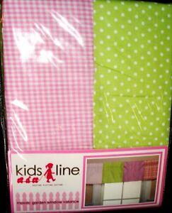 KIDSLINE MOSAIC GARDEN PINK/GREEN GIRL WINDOW VALANCE NURSERY~KIDS ROOM~NEW