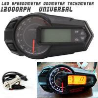 Wasserdichte LCD Tachometer Tachometer Kilometerzähler 12000RPH für Motorrad ATV