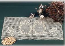 Owl Centerpiece Table Topper Crochet Pattern Kit ~ Natural Thread included - New