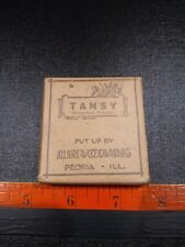 Vintage Tansy Crude Drugs Box Allaire-Woodward & Co.