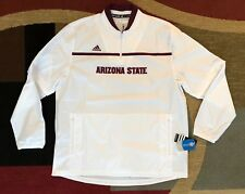 Arizona State Sun Devils Adidas Men's 1/4 Zip Windbreakers Jacket X Large Cage