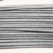 Cordon Coton Ciré 1mm – 4m Gris pour Colliers et Bracelets de perles