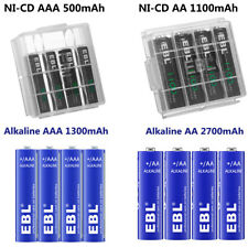 Lot EBL AA AAA Rechargeable NI-CD / Non-Rechargeable Alkaline Battery for Torch