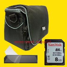 Mega Set - Kamera Foto Tasche + 8 GB SDHC + Schutzfolie für SLR Kamera