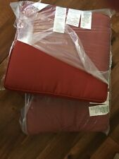 NEW 2 Pottery Barn Sunbrella Piped Outdoor Dining Cushions Terra Cotta Red