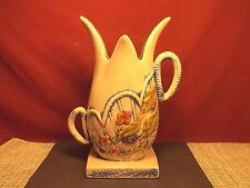 "Vintage Hull Pottery Blossom Flite  Pattern 10 3/4"" Flower Vase"