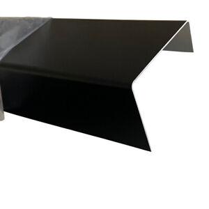 U- Winkel Abdeckprofil Alu RAL9005 1mm Einfassprofil schwarz bis 3 Meter