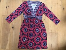 NEW BODEN Ladies Blue Red Purple Floral Jersey Dress @ Size UK 6 P Petite