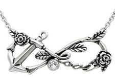 Controse Infinity Love Anchor Necklace w/Swarovski crystal