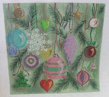 Handpainted Needlepoint Canvas Winnetka Stitchery Christmas Ornament Tree WSD842
