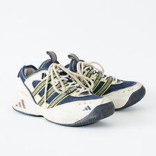 Vero vintage anni'90 ADIDAS Torsione Scarpe da ginnastica allacciata Scarpe Da Ginnastica in Pelle Uomo UK 7.5
