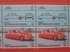 1955 CITROEN DS-19 / DS19 Car 50-Stamp Sheet / Auto 100 Leaders of the World