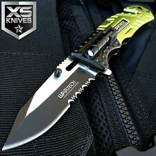 "8"" WARTECH BLAZE Rescue LED Light Spring Assisted Folding Pocket Knife SECURITY"