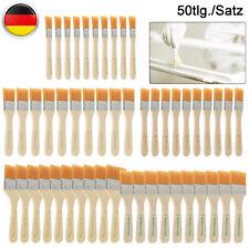 50 Tlg Malerpinsel Set Flachpinsel Farbpinsel Lackpinsel Eckenpinsel Lasur Satz