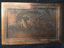 TABLEAU PLAQUE EN CUIVRE GRAVÉE LES VENDANGES F.VINEA / VIN