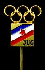 YUGOSLAVIA NOC NATIONAL OLYMPIC COMMITTEE 1984 LOS ANGELES OLYMPICS PIN BADGE