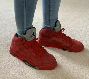 Jordan 5 Retro Raging Bull Red Suede 2017 Youth Size 7