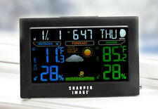Color Weather Station Wireless Outdoor Temperature Remote Humidity Atomic Clock