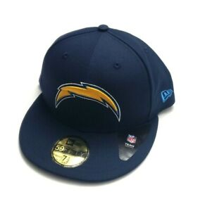 New Era Los Angeles Chargers NFL 59Fifty Basic Team Fitted Hat Navy Size 7 1/2