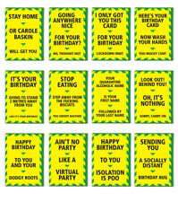 Isolation Alert Card Quarantine Birthday Funny Rude Amusing Witty Comedy Humour