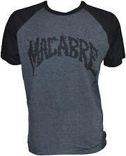 MACABRE - Charcoal/Black T-shirt - Black Logo - T-Shirt S / Small (h2) 162745