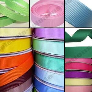 50m Quality Reels Grosgrain Ribbon Roll 50 Metres Indoor Spring Craft Wrap