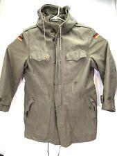 Vintage German Military Army Winter Parka Jacket Coat w/ Hood - Flag Large