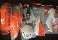 Plastic Kit KTM EXC EXC-F 125 200 250 350 450 14-15 Enduro OEM Plastics Or/White