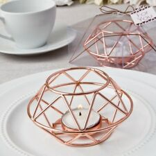 50 Rose Gold Geometric Candle Holder Wedding Bridal Shower Party Favors