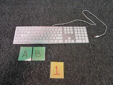 APPLE WIRED KEYBOARD A1243 ENGLISH NUMERIC USB KEYPAD HOME COMPUTER WORK USED