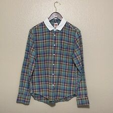 Opening Ceremony Her collared LS Plaid Flannel Shirt M/L $195