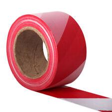 500 Metre Red & White Stripe Non Adhesive Barrier Hazard Warning Utility Tape