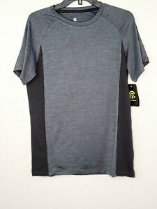 Champion C9 Boys' Gray & Black Cloud Knit Breathable Stretch Athletic Tee New