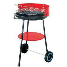 CARBONELLA BBQ BARBECUE NERO 17 pollici rotonda metallo portatile con Spazzola per barbecue GRATIS