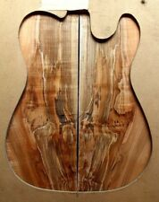 """Spalted curly ambrosia maple top .41"""" thick tele strat guitar bass luthier 632"""