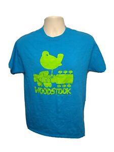 2015 Woodstock Ventures Adult Medium Blue TShirt
