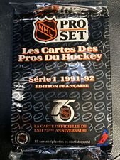 Pro Set NHL 1991-92 Unopened pack of hockey cards French edition 15 cards/pack