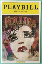 Signed Mary Beth Peil (Only) Follies Playbill Bernadette Peters Elaine Paige New
