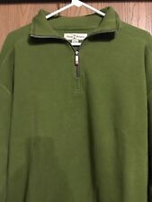 TOMMY BAHAMA mens 1/4 zip mock cotton pullover L. Light Green Color