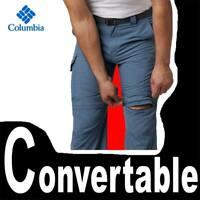 MEN'S COLUMBIA SILVER RIDGE CONVERTIBLE PANTS UTILITY CARGO SHORTS UPF 50 34 /34