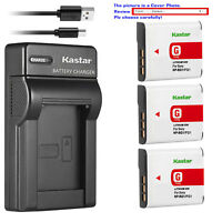 Kastar Battery Slim Charger for Sony NP-BG1 NPBG1 & Cyber-shot DSC-W100 Camera